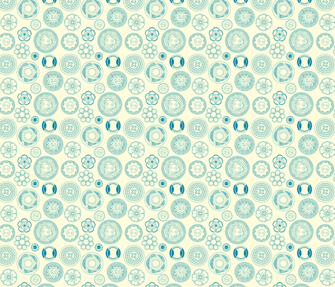 Vintage Buttons fabric by marcelinesmith on Spoonflower - custom fabric