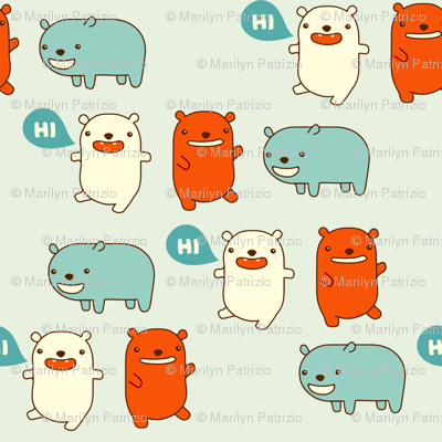 Happy Bears Say Hi