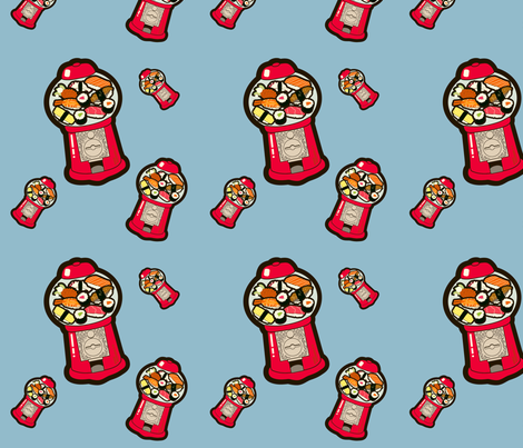 gumball sushi fabric by thickblackoutline on Spoonflower - custom fabric