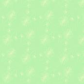 Dandelion clocks white on green