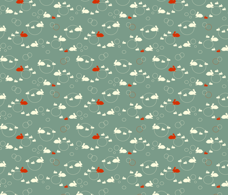 Bunny Hop fabric by jmaranez on Spoonflower - custom fabric