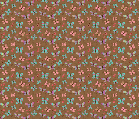 Multi Butterfly fabric by tracyjoy on Spoonflower - custom fabric