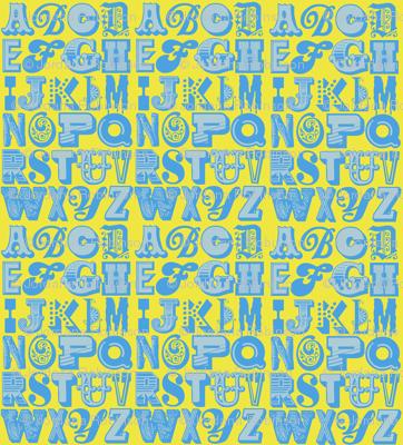 alphabet (blue/yellow)
