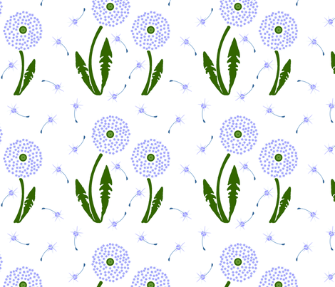 Dandelion Delirium fabric by mayabella on Spoonflower - custom fabric