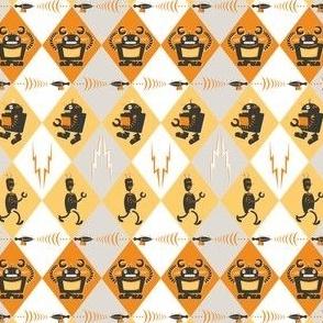 Robots: yellow & orange