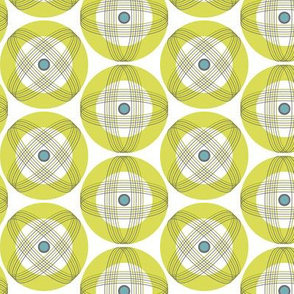Into Orbit - Midcentury Modern Geometric Dot Green