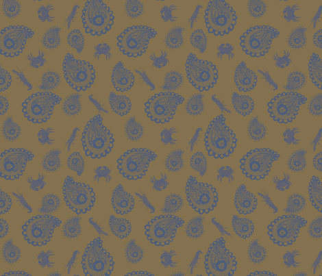 crab-shrimp_fabric fabric by jessicaroberts on Spoonflower - custom fabric