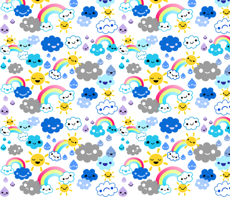 happy weather fabric by berrysprite on Spoonflower - custom fabric