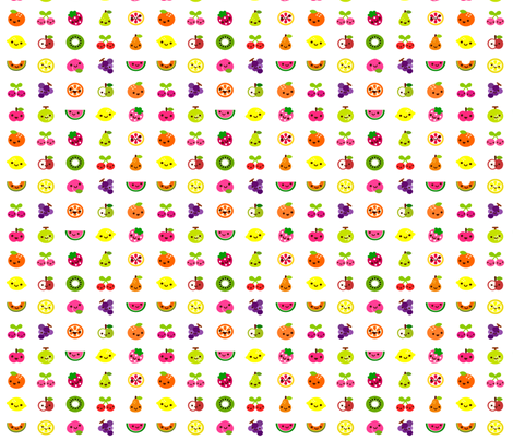 Fruit salad fabric by berrysprite on Spoonflower - custom fabric