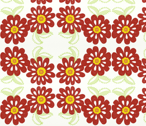 bloom_in_red_for_spoonflower fabric by balanced on Spoonflower - custom fabric