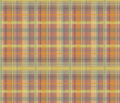 Sunset Plaid fabric by dreamwhisper on Spoonflower - custom fabric