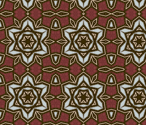 bluebrownflowerstarsquare10x10x150 fabric by dreamwhisper on Spoonflower - custom fabric