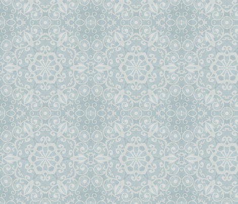 Shabby Blue Lace fabric by dreamwhisper on Spoonflower - custom fabric