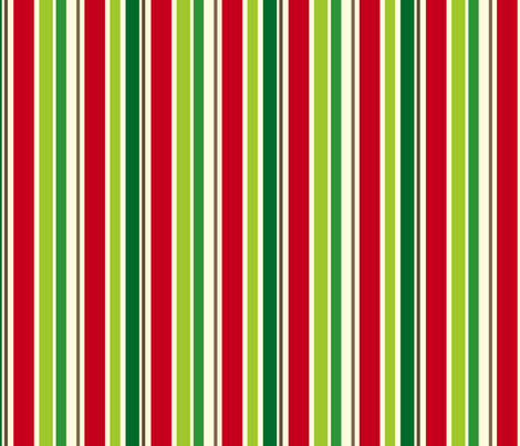Holiday Stripe fabric by cottageindustrialist on Spoonflower - custom fabric