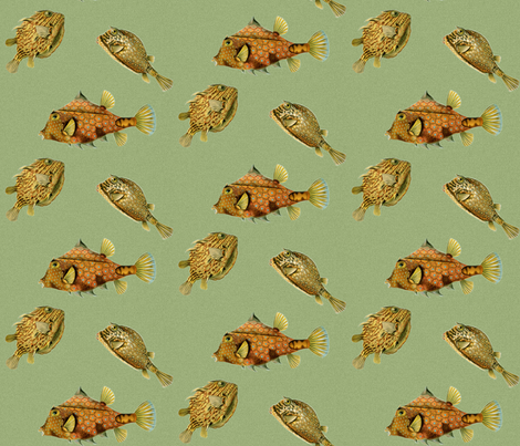 Math Sea Creatures fabric by northern_scout_vintage on Spoonflower - custom fabric