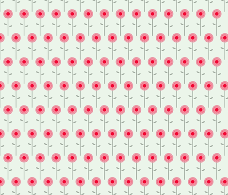 flowers fabric by troismiettes on Spoonflower - custom fabric