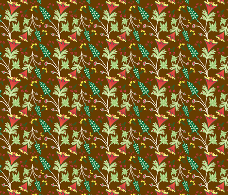 Medieval Floral fabric by totallysevere on Spoonflower - custom fabric