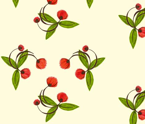 Dancing Blossom Large fabric by cksstudio80 on Spoonflower - custom fabric