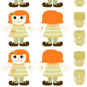 Kooky doll fabric
