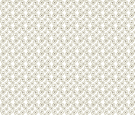 fabric_flowers_brown fabric by aliceandcodesigns on Spoonflower - custom fabric