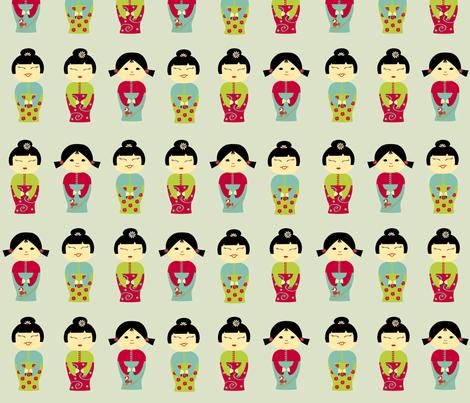 Sweet Asian Girls fabric by kori on Spoonflower - custom fabric