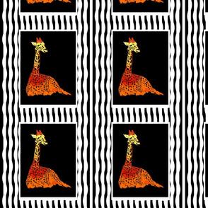 FabricGiraffeBlkStripes