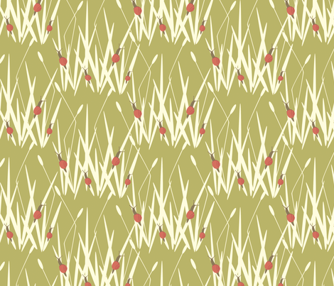 grass fabric by troismiettes on Spoonflower - custom fabric