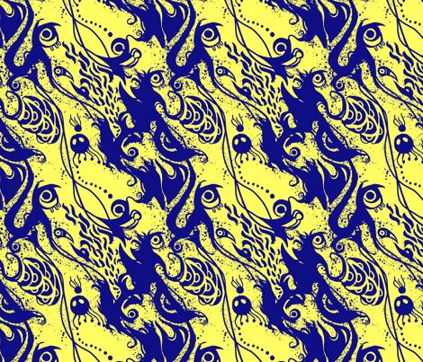 Ghost Travels fabric by ferociousfox on Spoonflower - custom fabric