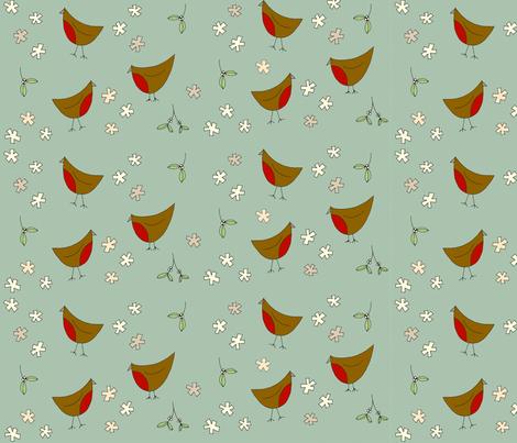 Christmas_birds_final fabric by phatsheepfabrics on Spoonflower - custom fabric