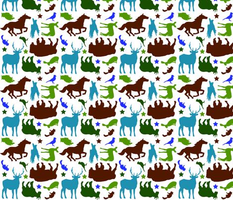 Wild West - Earth tones fabric by beckarahn on Spoonflower - custom fabric