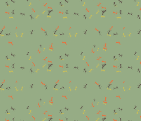 ant_swatch fabric by pigeoncircus on Spoonflower - custom fabric