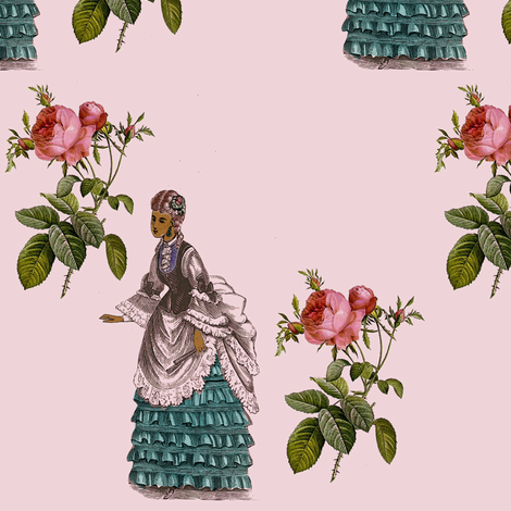 The Rose and the Lady fabric by nalo_hopkinson on Spoonflower - custom fabric