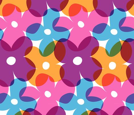 Large Retro Flowers fabric by neffington on Spoonflower - custom fabric