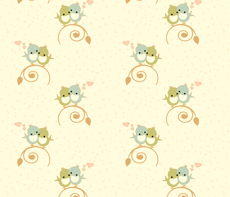 lilbirdsnheartswhite fabric by atomic_Ω_blythe on Spoonflower - custom fabric