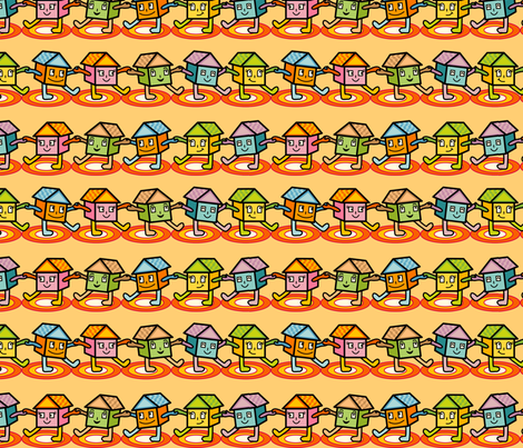 Happy Home fabric by totallysevere on Spoonflower - custom fabric