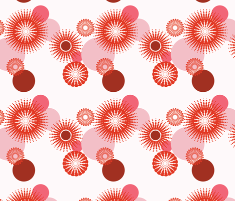 Sparkling Circles - 8in (red) fabric by studiofibonacci on Spoonflower - custom fabric