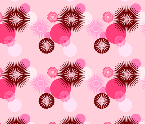 Circles - Peach fabric by studiofibonacci on Spoonflower - custom fabric