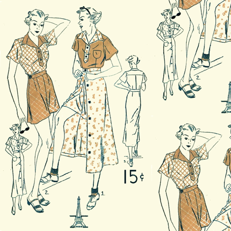 Playsuit fabric by nalo_hopkinson on Spoonflower - custom fabric