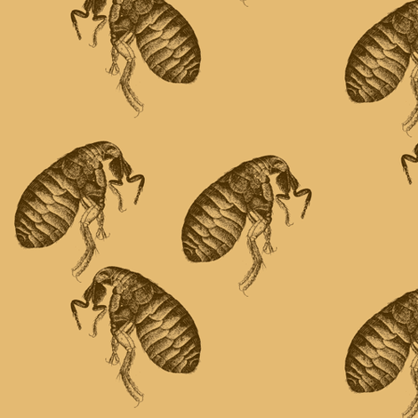 March of the Fleas Seven fabric by nalo_hopkinson on Spoonflower - custom fabric