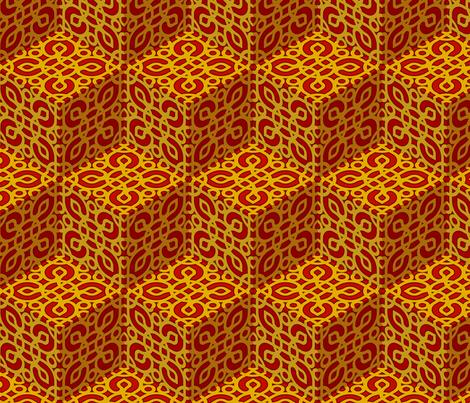 RED ZEN 01 fabric by fischer on Spoonflower - custom fabric