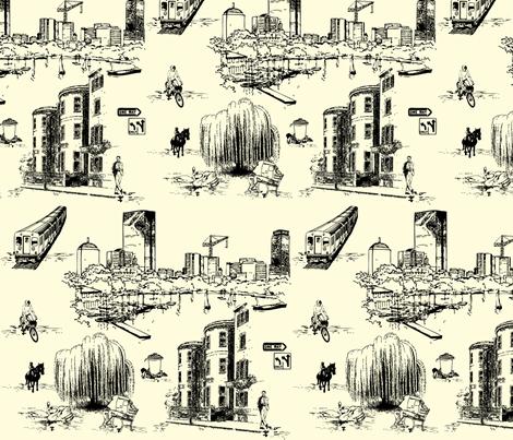 Boston Toile fabric by litabug on Spoonflower - custom fabric