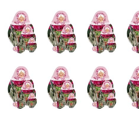 Babushka-nesting-dolls fabric by karenharveycox on Spoonflower - custom fabric