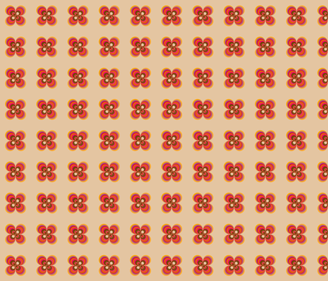 caramel_flowers fabric by snork on Spoonflower - custom fabric