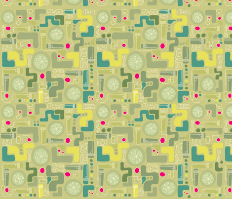 gadget philosophy fabric by greenkaijyu on Spoonflower - custom fabric