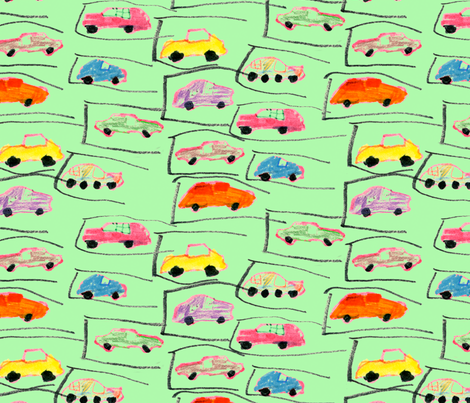 willowcarrepeat fabric by jrcamp on Spoonflower - custom fabric