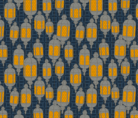 Lanterns fabric by bronhoffer on Spoonflower - custom fabric