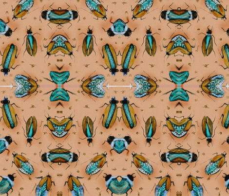 narrow_bugpeach6 fabric by imkirkwood on Spoonflower - custom fabric