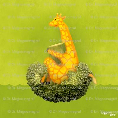 """Zoo in My Belly Giraffe 15"""""""
