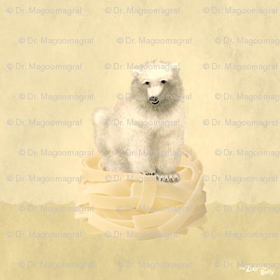 "Zoo in My Belly Polar Bear 15"""