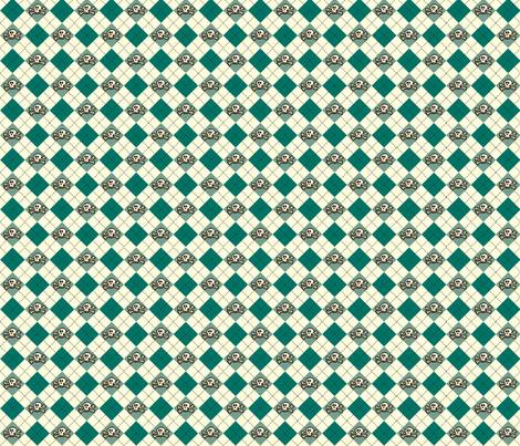 Skullgyle fabric by mysteek on Spoonflower - custom fabric
